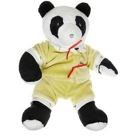 Doudou Ours Nounours Panda Noir Blanc Pyjama Cajou Combi Combinaison 21 Cm Vert Anis