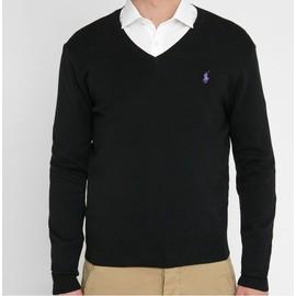 Pull Ralph Lauren Coton S Noir Slim Fit