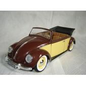 Solido 1/17 Vw Volkswagen Coccinelle Decapotable Marron / Beige