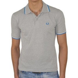 Polo Fred Perry Slim Fit Manches Courtes Pour Hommes M3600 Gris