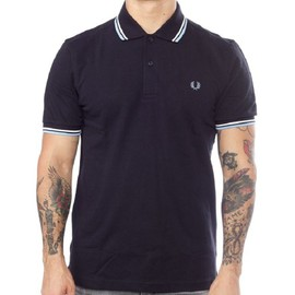 Polo Fred Perry Slim Fit Manches Courtes Pour Hommes M3600 Bleu Marine