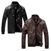 Blouson Manteau Veste Homme En Cuir Fashion Style Britannique Stand-Col � Capuche Manches Longues D�contract�e Deux Couleurs � Choisir Marron Et Noir