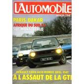 L'automobile N�428 F�vrier 1982-Renault-Alpine-Maserati-Alfa-Audi-Vw-Opel-Fiat-Camaro-Toyota-Lancia