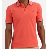 Polo Fred Perry Slim Fit Manches Courtes Pour Hommes M3600 Corail
