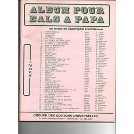 Album pour Bals à Papa ( 46 titres du répertoire traditionnel )