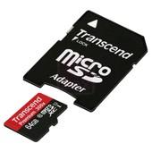 Transcend 64GB MicroSDXC Class 10 U1 avec adaptateur SD