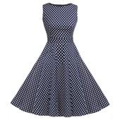 Robe De Soir�e Sans Manches�l�gante, Vintage En Polyester - Acevog