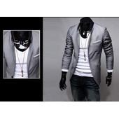 Costume Veste Manteau Pour Hommes Occasionnels Slim Fit Blazer Shirt �l�gant Conception De Poche Patch Fashion Mode Tendance Look Branch� Classe D�contract�e Taille Xxl/Xl/M/L Gris/Noir