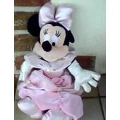 Minnie En Robe De Princesse Rose ,Noeud & Chaussures Assortis - 28 Cm Environ