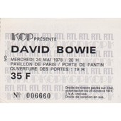 Billet Concert David Bowie 24 Mai 78 Pavillon De Paris