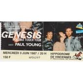 Billet Concert Genesis Paris Hippodrome De Vincennes 3/6/87