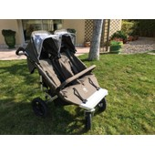 Poussette Double Easywalker Sky Duo Plus Platinum Gris