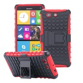 Ecence Sony Xperia M4 Aqua Hybrid Outdoor Cover Placage Housse Coque Silicone Protection Case Bumper Rouge 22030302