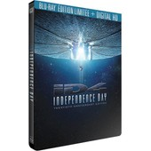 Independence Day - �dition 20�me Anniversaire Bo�tier Steelbook Blu-Ray+ Digital Hd de Roland Emmerich