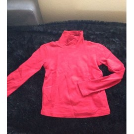 Sous-Pull Ski Oxylane Coton 10 Ans Rouge