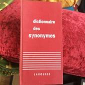 Livre Dictionnaires Des Synonymes Larousse de Rene Bailly
