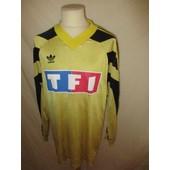 Maillot De Football Vintage Port� Coupe De France N� 7 Adidas Jaune Taille Xl