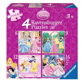 Puzzle 6 Pi�ces 4 Puzzles - Disney Princesses