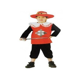 D�guisement Mousquetaire Rouge Enfant 7-9 Ans (�p�e Et Chapeau Non Inclus)