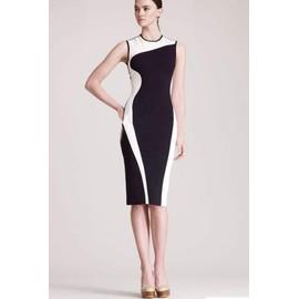 Robe De Soir�e Longue Sans Manches �l�gant Moulante Slim Bodycon Femme