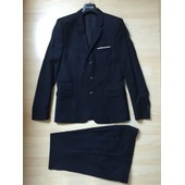 Costume Complet En Laine - Homme - The Kooples - Fitted - Bleu Marine - Taille 48 (M)