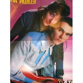 Luna parker / Samantha fox. Poster 58 x 44 cm. Top 50. 1987