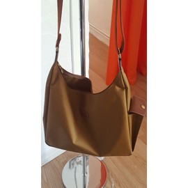 Besace Longchamp Synth�tique Beige
