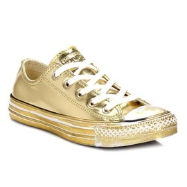 Converse Femme Chrome Gold All Star Low Baskets