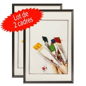 Lot De 2 Cadres Photo 40x60 Cm (Gris Anthracite)