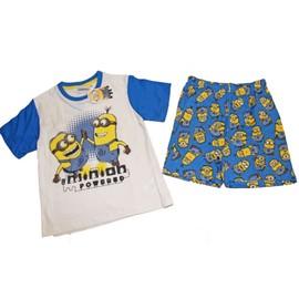 Ensemble Pyjama Gar�on Coton Tee Shirt & Short Minion Les Minion Despicable Me !! Du 3ans Au 8ans-Tee Shirt Manches Courte-Short Imprim�-Taille �lastiqu�-100%Coton !! Exp�dition En 24/48 Hrs