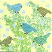 Lot De 2 Serviettes D�co Papier: Oiseaux Sur Branche