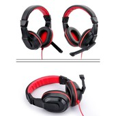 casque st�r�o casque skype gaming jeu pc kangling 770 noir et rouge
