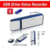 cl� usb rechargeable 8gb 650hr espionne son dictaphone pen silver