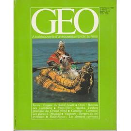 Geo N�24 Du 01/02/1981 : Vautours - Incas - Trinitad - Alaskans