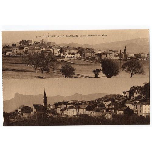Carte postale ancienne. le poet et la saulce entre sisteron et <strong>gap</strong>. 05 hautes alpes.