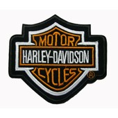 Harley Davidson Motard Biker Chopper Patch Thermocollant 12 Cm X 11 Cm