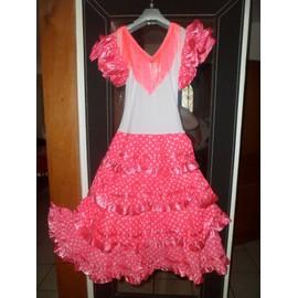 Robe Danse Flamenco /S�villane Polyester 10 Ans Rose