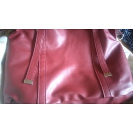 Sac � Bandouli�re Rodier Simili Cuir Rouge