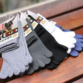 Lot De 10 Paires Toe Chaussettes Hommes 80.5% Coton