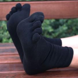 Lot De 5 Paires Toe Chaussettes Hommes 80.1% Coton