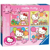 Puzzle 12 Pi�ces 4 Puzzles - Hello Kitty