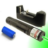 pointeur laser vert jd850 tres puissant 1mw visible jusque 12kms pret a l'emploi batterie + chargeur