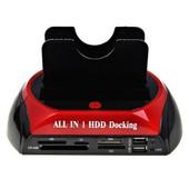 Satation d'Accueil Disque Dur DOUBLE HDD Docking Station USB 2.0 ESATA IDE SATA