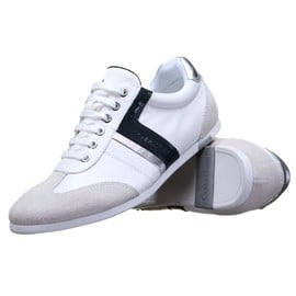 Carl Soft Nappa / Patent White/Midnight