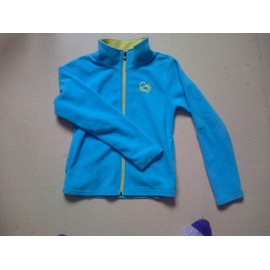 Gilet Ski Longboard Maille Polaire 12 Ans Turquoise