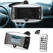 lecteur MP3 mains-libres de voiture FM transmetteur modulateur MP3 player Bluetooth auto-radio en noir
