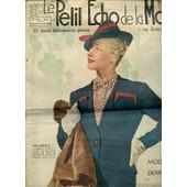 Le Petit Echo De La Mode N�6 / 5 F�vrier 1939 - Modes De Demi-Saison / Le Soir, Aux Lumi�res / Dessus De Blouse En Laine Angora / Chambres � Coucher / Rajeunir Son Vieux Secr�taire / ... de COLLECTIF