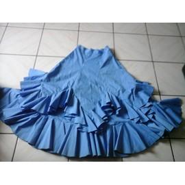 Jupe Danse Flamenco S�villane ,Taille: 38 Bleu