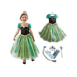 Tenue Reine Des Neiges Robe Elsa Avec Jolie Traine + 4 Nouveaux Accessoires  Turquoises Diadème Baguette d9cfadb9f139