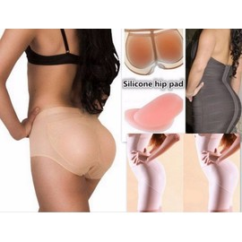 Culotte Gaine Slip Push Up Prothese Fessier Fausse Fesse Coussinet Silicone Sexy